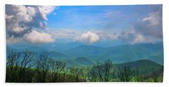 Summer Mountain View Bath Towel