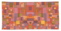 Summer Peach Abstract Hand Towel