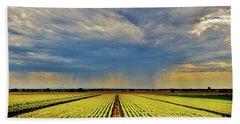 Summer Storm In The Corn Fields Bath Towel