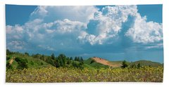 Summer Storm Over The Dunes Hand Towel