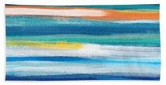 Summer Surf 3- Art By Linda Woods Bath Towel