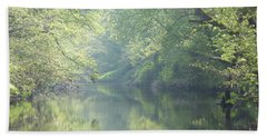Summer Time River And Trees - Landscape Bath Towel