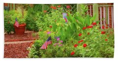 Summertime In The Flower Garden Hand Towel