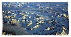 Sun Kissed Glaciers Bath Towel