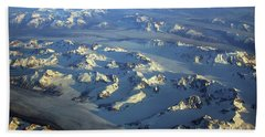 Sun Kissed Glaciers Hand Towel