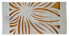 Sunburst Petals Hand Towel