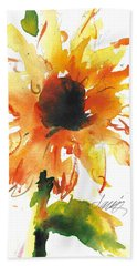 Sunflower Too - A Study Hand Towel