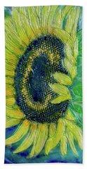 Sunflower Smiles Bath Towel