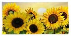 Sunflowers And Sunshine Bath Towel