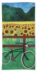 Sunflowers At Whitehall Farm Hand Towel