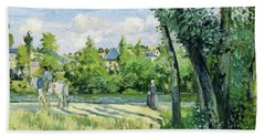 Sunlight On The Road, Pontoise - Digital Remastered Edition Bath Towel