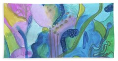 Sunny Day Abstract Hand Towel