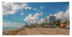 Sunny Day At Hollywood Beach Hand Towel