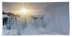 Sunrise In Niagara Falls Bath Towel