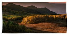 Sunrise In The Fall Mountains Of Utah Bath Towel
