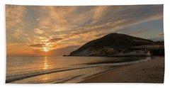 Sunrise On The Beach Of The Genoveses Of Cabo De Gata Bath Towel