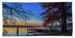 Bath Towel featuring the photograph Sunrise On The Patuxent by Cindy Lark Hartman