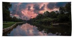 Sunrise On The River Bath Towel