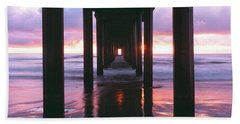 Sunrise Over The Pacific Ocean Seen Hand Towel
