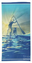 Sunrise Paddle Boarder Bath Towel