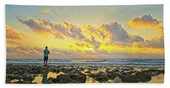 Sunrise Surf Fishing Bath Towel
