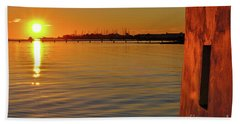 Sunset And Old Watermill Hand Towel