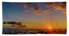 Sunset At Kailua Beach Bath Towel