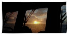 Sunset At Sea Hand Towel