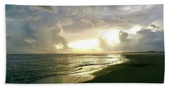 Sunset At The Beach Hand Towel