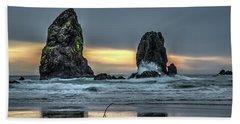 Sunset At The Canon Beach Bath Towel