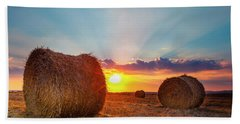Sunset Bales Bath Towel