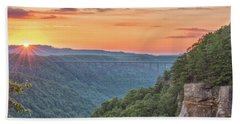 Bath Towel featuring the photograph Sunset Flare by Russell Pugh