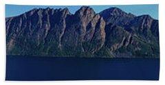 Sunset In Norway In Lofoten Island Hand Towel