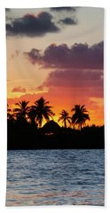 Sunset In The Florida Keys Hand Towel