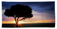 Sunset In The Masai Mara Hand Towel