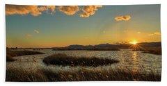 Sunset In The Natural Park Of Prat De Cabanes Hand Towel