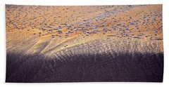 Hand Towel featuring the photograph Sunset In The Sand by Whitney Goodey