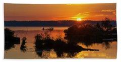 Sunset, Mallows Bay Bath Towel
