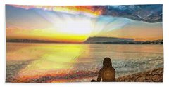 Sunset Meditation Hand Towel