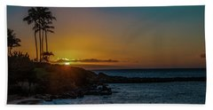 Sunset On Kapalua Bath Towel
