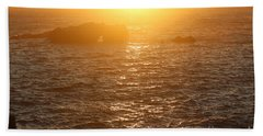 Sunset On The Coast Hand Towel