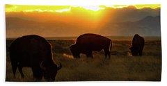 Sunset On The Plains Of Colorado Bath Towel
