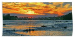Sunset On The River  Bath Towel