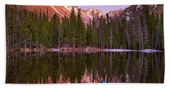 Sunset Over Longs Peak Bath Towel