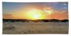 Sunset Over N Padre Island Beach Bath Towel