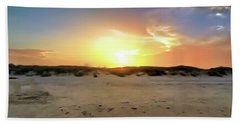 Sunset Over N Padre Island Beach Hand Towel