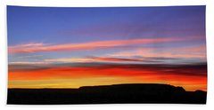 Sunset Over Navajo Lands Bath Towel