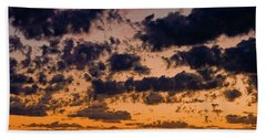 Sunset Over The Indian Ocean Bath Towel