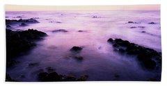 Sunset Over The Sea, 17-mile Drive Bath Towel