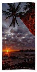 Sunset Palm Bath Towel